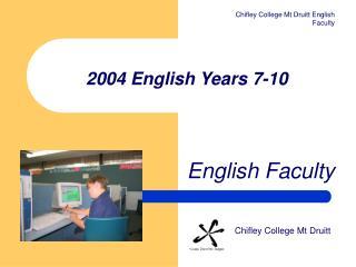 2004 English Years 7-10