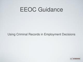 EEOC Guidance