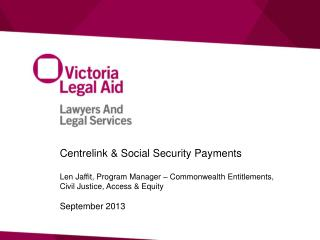 Centrelink & Social Security Payments