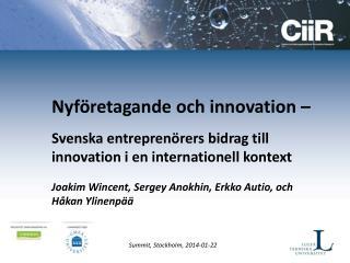 Nyföretagande och innovation –