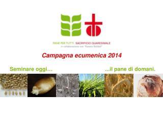 Campagna ecumenica  2014
