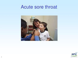 Acute sore throat