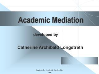Academic Mediation