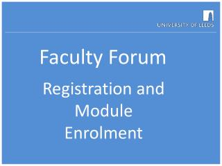 Faculty Forum