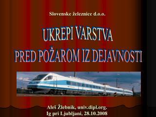 Aleš Žlebnik, univ.dipl.  Ig pri Ljubljani, 28.10.2008