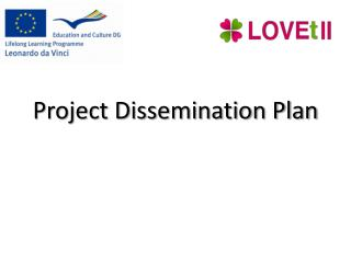 Project Dissemination Plan