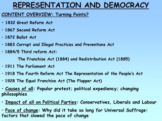 REPRESENTATION AND DEMOCRACY