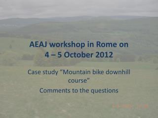 AEAJ workshop in Rome on  4 – 5 October 2012