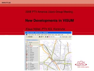 New Developments in VISUM