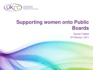 Supporting women onto Public Boards