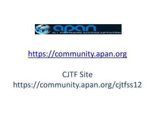 https://community.apan CJTF Site https://community.apan/cjtfss12