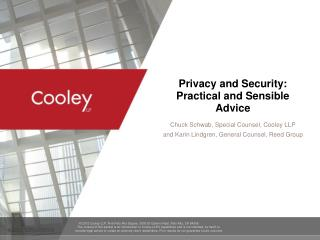 Privacy and Security: Practical and Sensible Advice