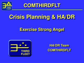 COMTHIRDFLT Crisis Planning & HA/DR Exercise Strong Angel