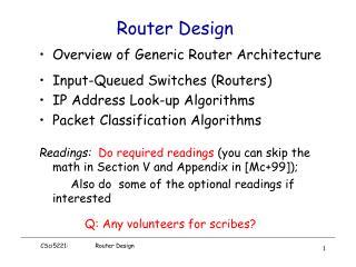 Router Design