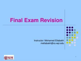 Final Exam Revision