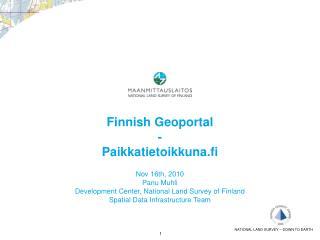 Finnish Geoportal  -  Paikkatietoikkuna.fi
