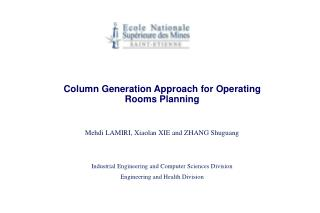 Column Generation Approach for Operating Rooms Planning