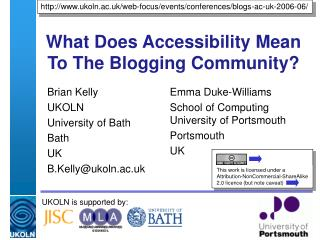 What Does Accessibility Mean To The Blogging Community?