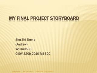 My Final Project StoryBoard
