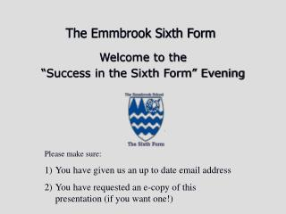 The Emmbrook Sixth Form
