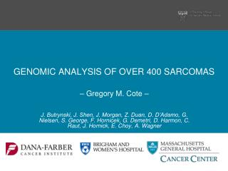 GENOMIC ANALYSIS OF OVER 400 SARCOMAS