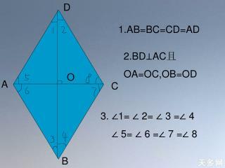 1.AB=BC=CD=AD