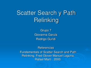 Scatter Search y Path Relinking