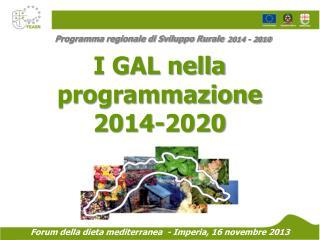 Programma regionale di Sviluppo Rurale 2014 - 2010