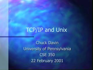 TCP/IP and Unix