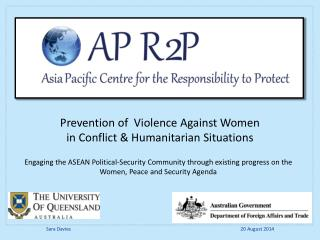 Prevention of  Violence Against Women  in Conflict & Humanitarian Situations