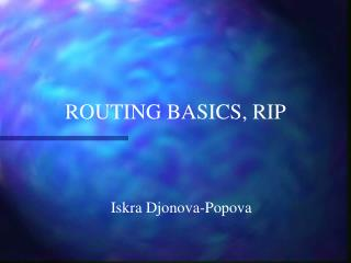 ROUTING BASICS, RIP