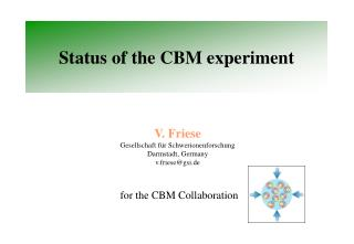 Status of the CBM experiment