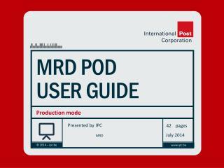 MRD POD User guide