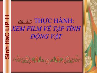 Sinh HäC LíP 11