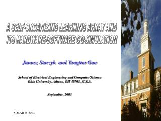 Janusz Starzyk  and Yongtao Guo School of Electrical Engineering and Computer Science