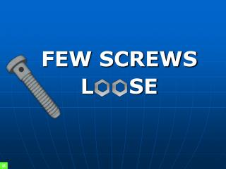 FEW SCREWS L     SE