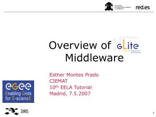 Overview of gLite                Middleware
