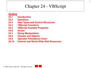 Chapter 24 - VBScript