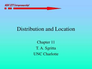 Distribution and Location