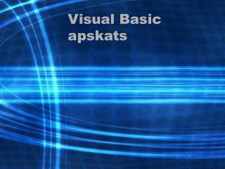 Visual Basic apskats