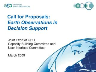 Call for Proposals:  Earth Observations in Decision Support