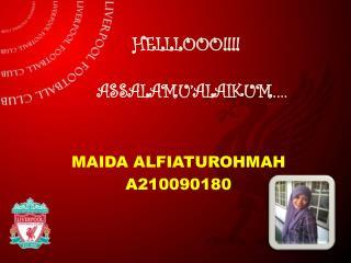 HELLLOOO!!!! ASSALAMU'ALAIKUM….