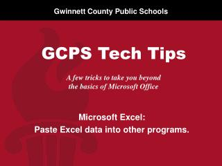 A few tricks to take you beyond  the basics of Microsoft Office