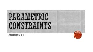 Parametric Constraints