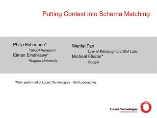 Putting Context into Schema Matching