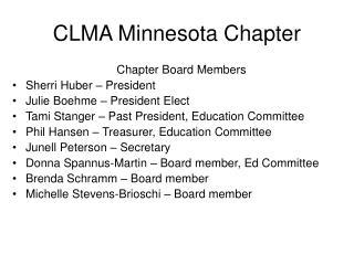 CLMA Minnesota Chapter