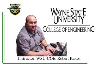 Instructor: WSU-COE, Robert Kakos