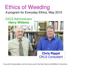 Ethics of Weeding