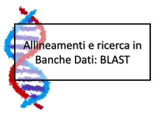 Allineamenti e ricerca in Banche Dati: BLAST
