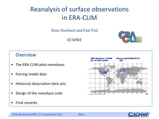 Reanalysis of surface observations in ERA-CLIM